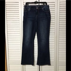 Maurices boot cut jeans size 11/12 dark wash